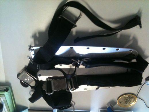 schienale acciaio - Accessori attrezzature sub