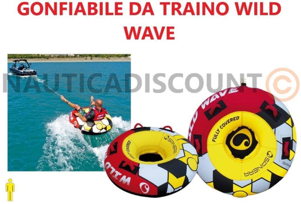 GIOCO D'ACQUA GONFIABILE DA TRAINO WILD WAVE