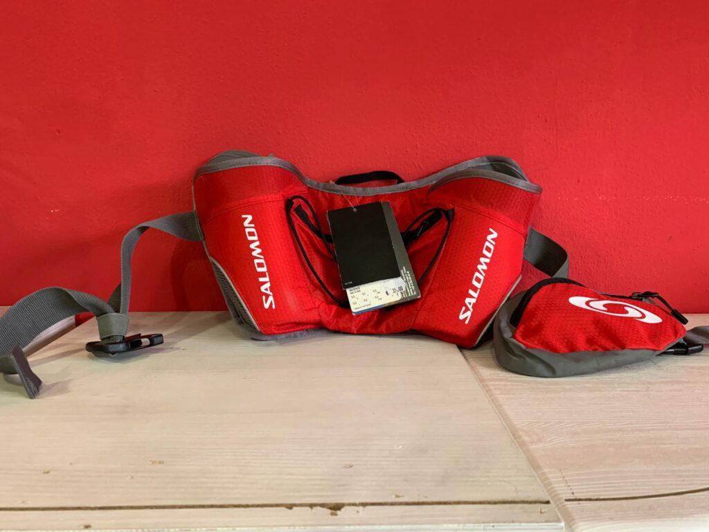 TWIN BELT BRIGHT RED/GREEN SALOMON Cintura per Borraccia