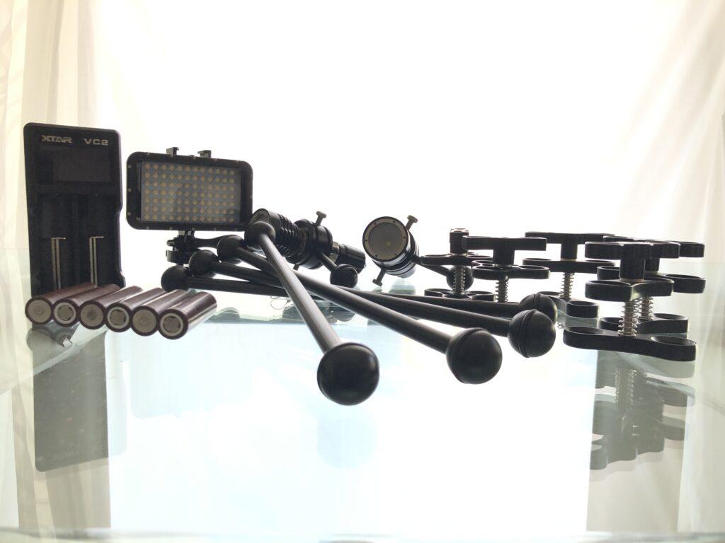Fari Sub + bracci + clamps