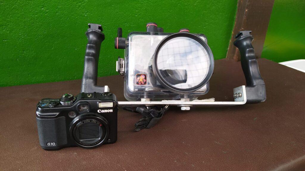 Canon G10 + scafandro Ikelite